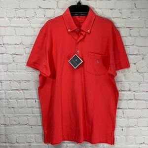 Tailorbyrd Coral Preppy Button Collar Short Sleeve